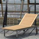 Moselle Liege 204,5 x 62 x 35 cm Teak mit Edelstahlgestell