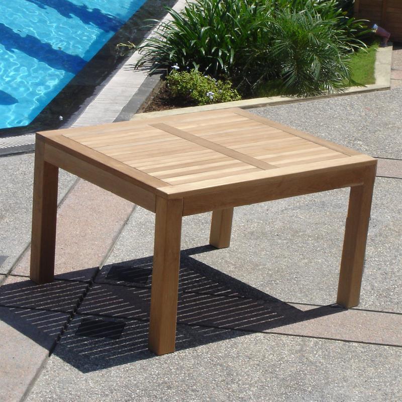 hampton esstisch 100 x 100 x 75cm teak mit 9x9 cm tischbeinen. Black Bedroom Furniture Sets. Home Design Ideas