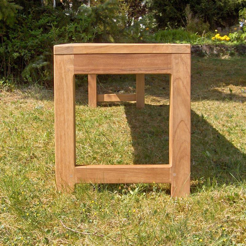 hampton gartenbank ohne r ckenlehne 200 cm teak. Black Bedroom Furniture Sets. Home Design Ideas