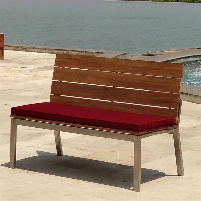 zilart gartenbank mit r ckenlehne 132 vintage teak mit. Black Bedroom Furniture Sets. Home Design Ideas
