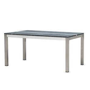 Tingra Tisch mit Granitplatte 160 x 100 x 75 cm 2 Granitplatten mit Edelstahlgestell