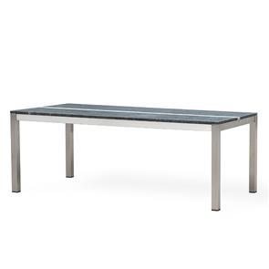 Tingra Tisch mit Granitplatte 210 x 100 x 75 cm 2 Granitplatten mit Edelstahlgestell