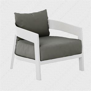 Auflagenset für Vento 1-Sitzer/Sessel Sitz- u. Rückenkissen Sunproof 2-teilig