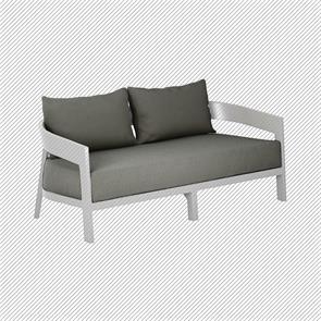 Auflagenset für Vento 2-Sitzer Sofa Sitz- u. Rückenkissen Sunproof 3-teilig