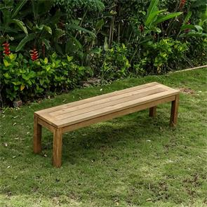 Dusun Gartenbank ohne Rückenlehne 150 cm Recycling Teak