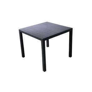 Calla Tisch 90x90 cm PEEL mit geflochtener Platte