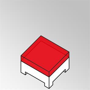 FLEXI Polster für Beistelltisch 82x69 cm 13 cm dick Sunproof