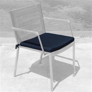 Tessin Sitzkissen Stapelstuhl mit u. ohne Armlehne 45x45x4cm SunProof