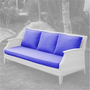Stokeham Polsterset Sofa 3 Sitzer  4-teilig Sitz- und Rückenkissen  SunProof