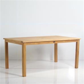 Briston Esstisch 165 x 100 x 76cm Teak mit 6x6 cm Tischbeinen