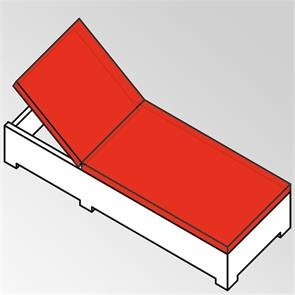 Liegenauflage Flexi Lounge Prestige 6 cm dick 207x69x6 cm Sunproof
