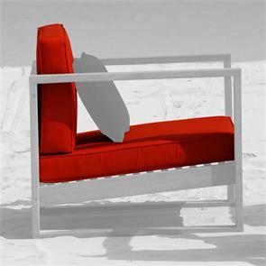 Polsterset für Zafron 1-Sitzer 2-teilig 11 cm dick Sitz- u. Rückenkissen Nagata