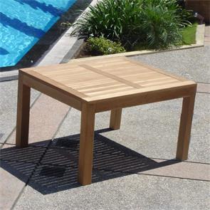 Hampton Esstisch 100 x 100 x 76 cm Teak mit 9x9 cm Tischbeinen mit Höhenverstellung