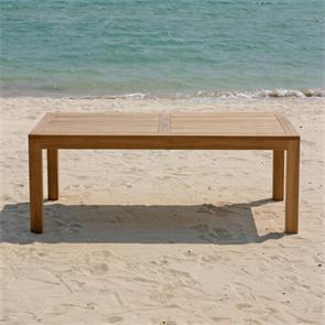 Hampton Esstisch 160 x 100 x 76cm Teak mit 9x9 cm Tischbeinen mit Höhenverstellung
