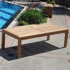 Hampton Esstisch 200 x 100 x 76 cm Teak mit 9x9cm Tischbeinen mit Höhenverstellung