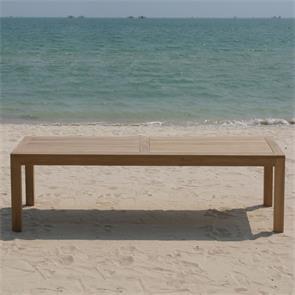 Hampton Esstisch 240 x 100 x 76 cm Teak mit 9x9 cm Tischbeinen mit Höhenverstellung