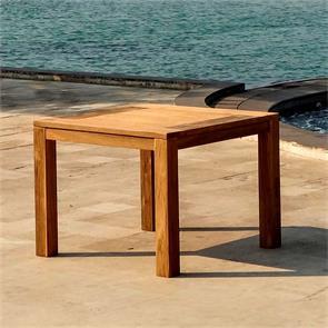 Dusun Esstisch 100 x 100 x 77 cm aus Recycle Teak - Beine: 9x9cm,  Unterzug: 7cm, Tischplatte: 3cm