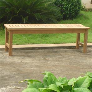 Elegance Gartenbank ohne Rückenlehne 140 cm - Zertifiziertes Teakholz GRADE A