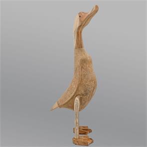 Jumbo-Ente »Anastasia« - riesengroß beige-braun aufrecht ohne Schuhe