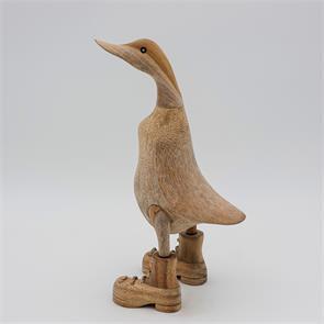 Ente »Bastian« - mittel beige-braun aufrecht mit Schuhen