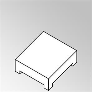FLEXI Lounge Beistelltisch quadratisch groß 95x95x29 cm Geflecht Lounge