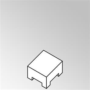 FLEXI Lounge Beistelltisch quadratisch 55x55x29 cm Geflecht Lounge