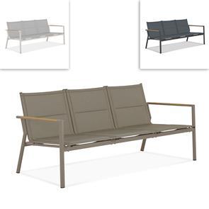 Gazelig Sofa 3 Sitzer  180,2 x 74,5 x 75 cm Aluminium und Batyline
