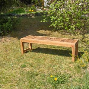 Hampton Gartenbank ohne Rückenlehne 140 cm Teak