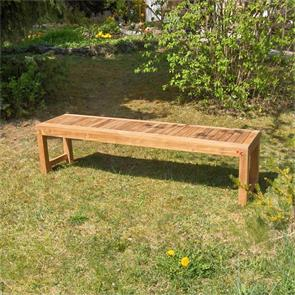 Hampton Gartenbank ohne Rückenlehne 160 cm Teak