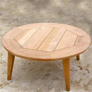 Piedra Esstisch rund 130 x 130 x 75cm Teak | TEAKoUTLET