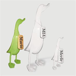 Ente »Marie« - mittel grün aufrecht