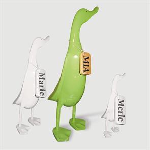 Ente »Mia« - groß grün aufrecht