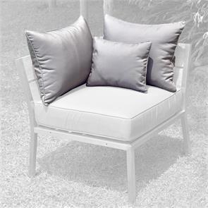 Makan Lounge Rückenkissen 65x40 + 40x30cm Sunproof für Eck-/Seitenmodul (2 große + 1 kleines Kissen)