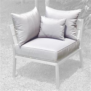 Makan Polsterset Lounge Eckmodul SunProof 4-tlg.(1 Sitz-,2 große + 1 kleines Rückenpolster)