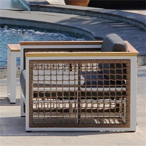Bowline Sessel  99 x 92 x 66 cm Geflecht mit Aluminium