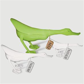 Ente »Nele« - groß grün flacher Körper