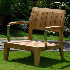 Nivelle 1 Sitzer Modul 77 x 83 x 83 cm - Zertifiziertes Teak GRADE A + Edelstahlbeschläge