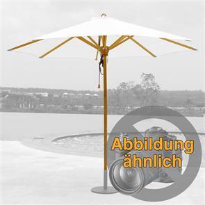 Schirmgestell 300 cm rund Ocean Parasol Deluxe Teak mit Edelstahlbeschlägen 2-facher Flaschenzug