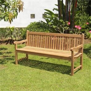 Royal Classic Gartenbank 180 cm - Zertifiziertes Teakholz GRADE A