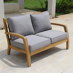 Corona Sofa 2 Sitzer  132 x 76,5 x 82 cm Teak