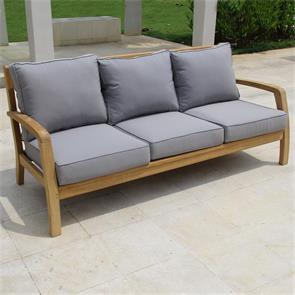 Corona Sofa 3 Sitzer  192 x 76,5 x 82 cm -  Zertifiziertes Teakholz GRADE A