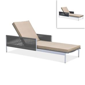 Snix Liege  205x73,5x50cm  -  rostfreier Edelstahl, Batyline und Rope-Material
