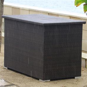 Flechttruhe regendicht 137x78x90 cm Geflechttruhe mit Aluminium-Innenbox