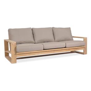 Trent Lounge Sofa 3-Sitzer - 89 x 211 x 71 cm -  Zertifiziertes Teakholz GRADE A