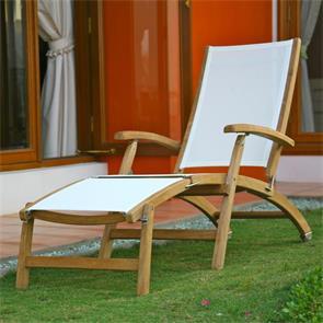 Rivera Deckchair - Teak GRADE A + Batyline + Edelstahlbeschläge