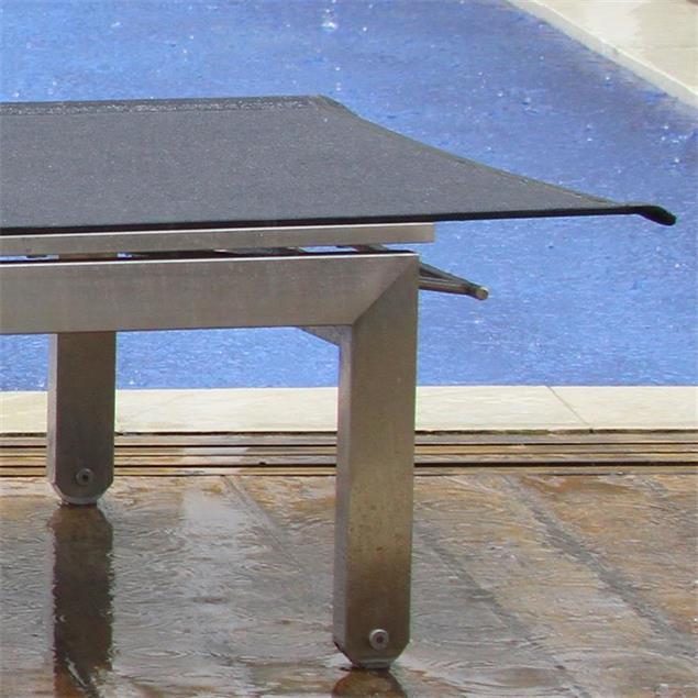 Alzette Liege 205 x 70 x 33 cm Edelstahl mit Batyline Bespannung