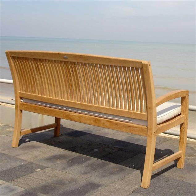 Comforteck Gartenbank 150 cm - Zertifiziertes Teakholz GRADE A