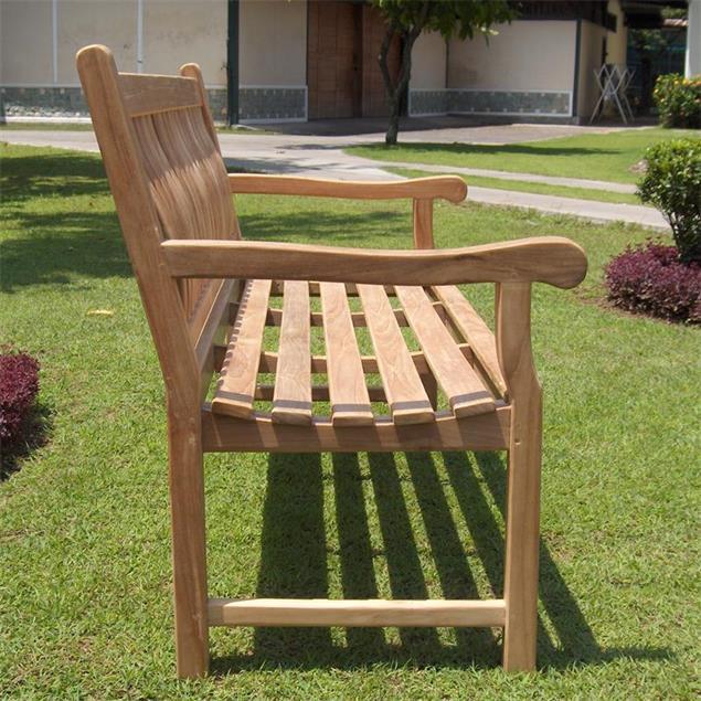 Florida Classic Gartenbank 130 cm - Zertifiziertes Teakholz GRADE A