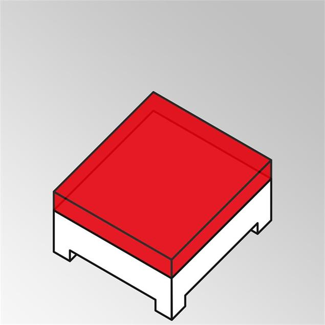 FLEXILounge Polster für Beistelltisch 95x95 13 cm dick Sunproof