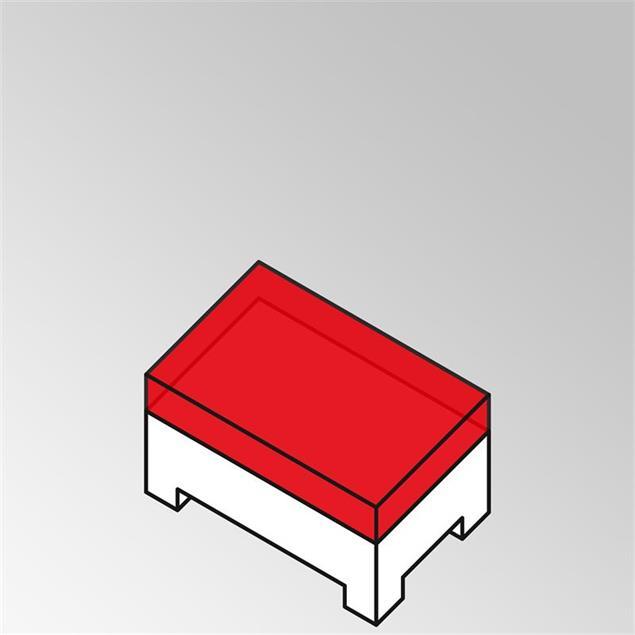 FLEXI Lounge Modul/ Beistelltisch lang 95x55x29 cm Geflecht Lounge